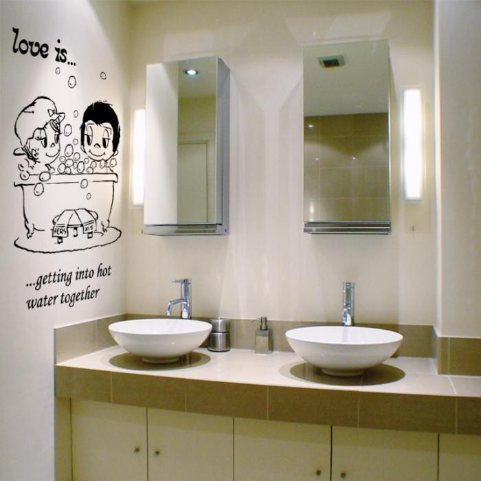Bathroom Wall Stickers  15 Decorative and Interesting Bathroom Wall Stickers Rilane