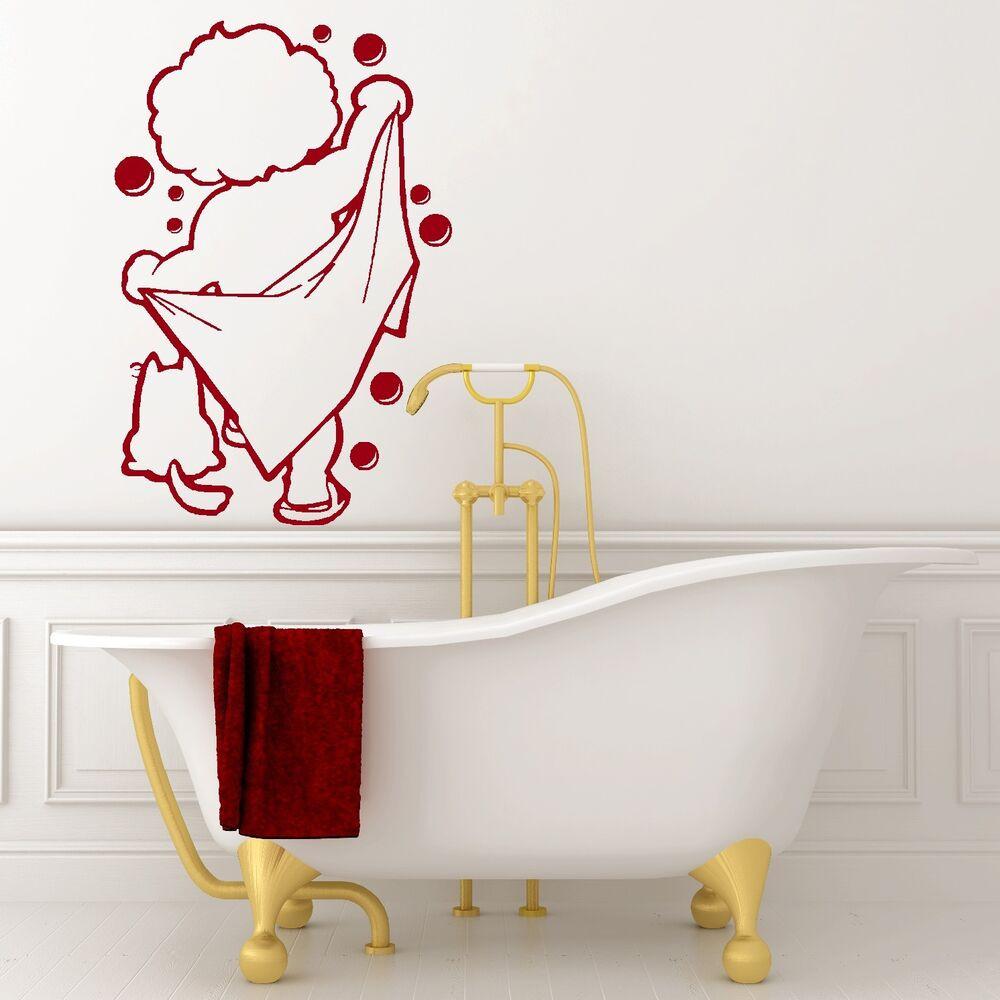 Bathroom Wall Stickers  BATH TIME vinyl wall art bathroom shower sticker decal