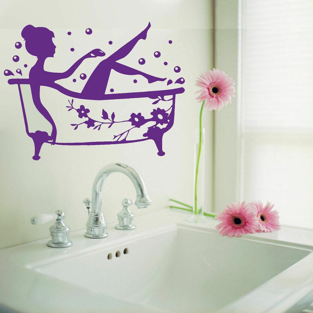 Bathroom Wall Stickers  Bathroom Art Decal Bath Time Removable Vinyl Wall Sticker