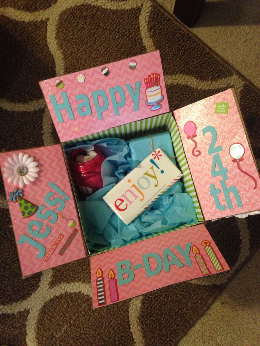 Bday Gift Ideas For Best Friend  Best friend birthday box Decorate the inside of the box
