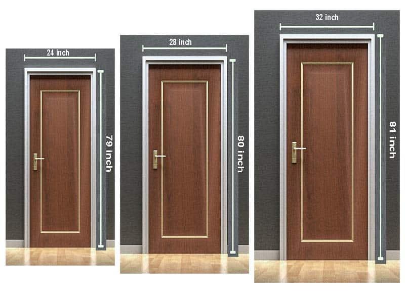 Bedroom Door Dimensions  What Is The Standard Bedroom Door Size My Home My Globe