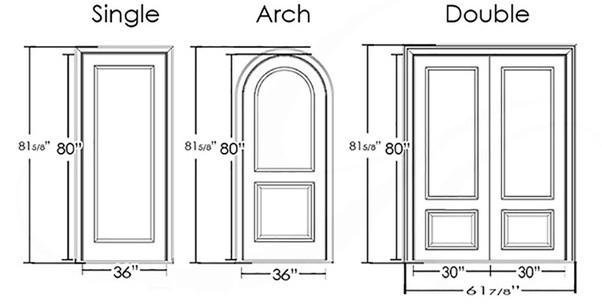 Bedroom Door Dimensions  What is the standard size of doors and windows Quora
