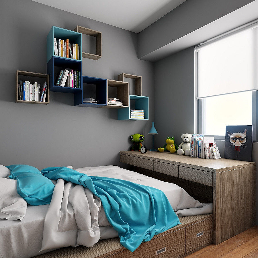 Bedroom Wall Storage Cabinets  TETREES Play Tetris With Modular Wall Shelves And Cabinets