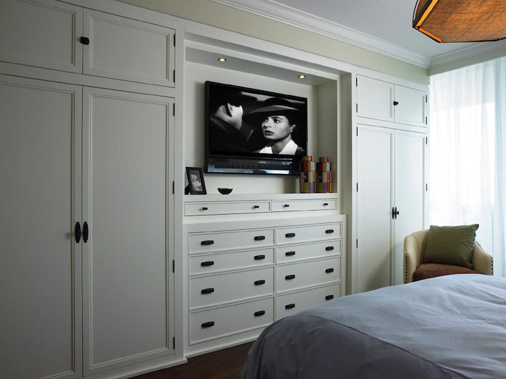 Bedroom Wall Storage Cabinets  Built In Cabinets Transitional bedroom Cindy Ray