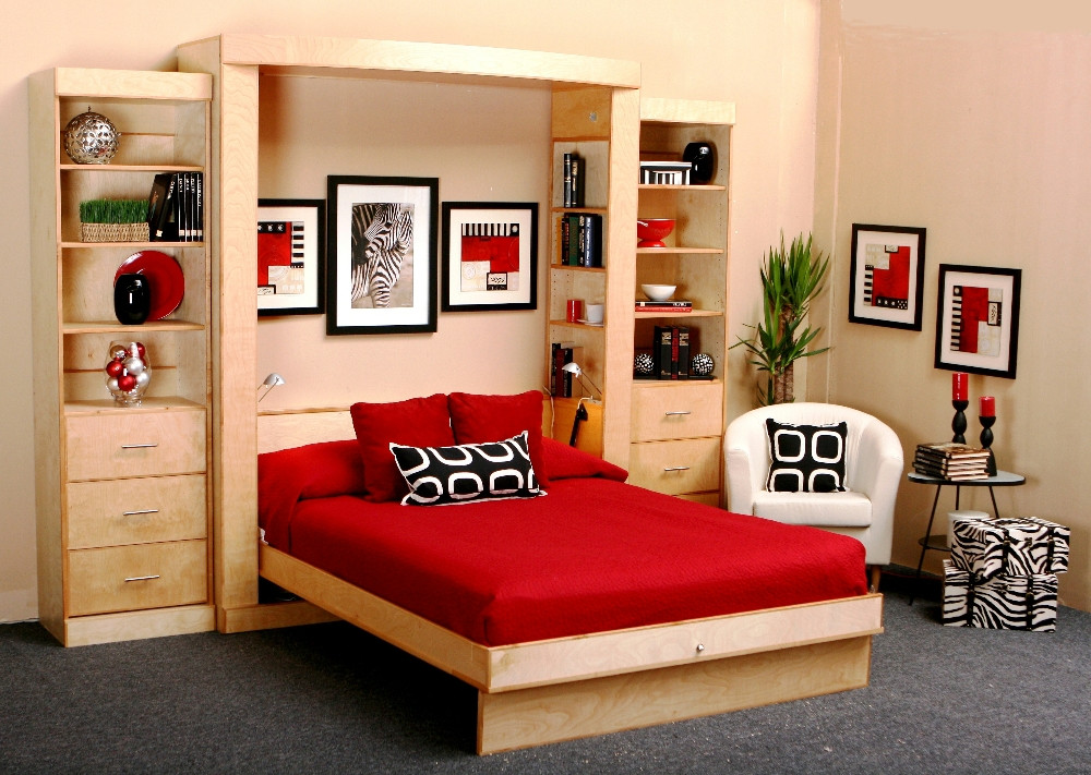 Bedroom Wall Storage Cabinets  Custom Fold Up Bed Lift & Stor Beds