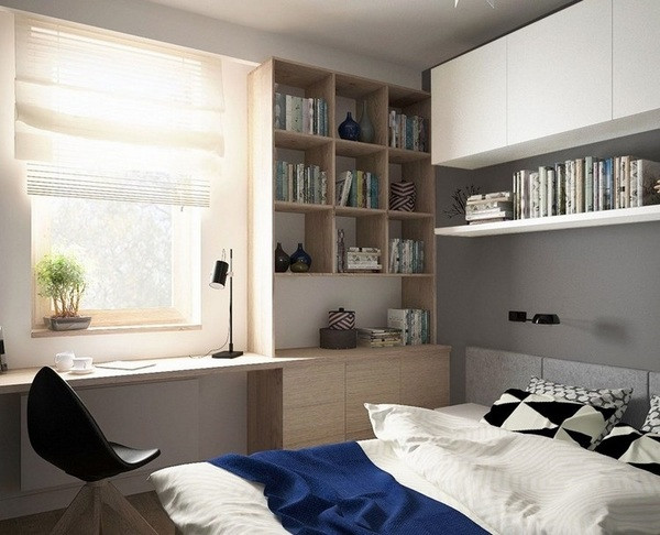 Bedroom Wall Storage Cabinets  Small bedroom furniture ideas and tips to enlarge the