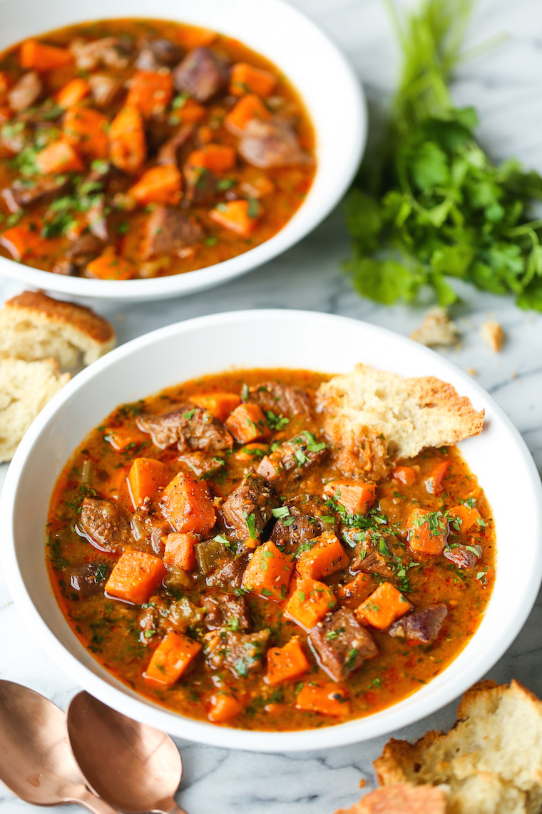 Beef And Sweet Potato Stew  Sweet Potato Beef Stew Damn Delicious