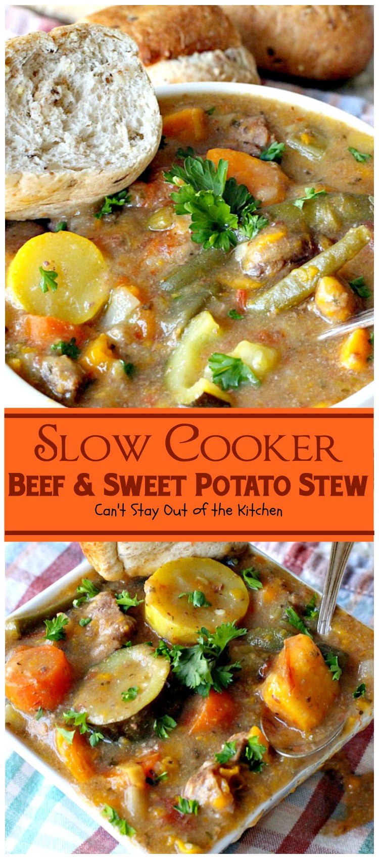 Beef And Sweet Potato Stew  Slow Cooker Beef and Sweet Potato Stew Can t Stay Out of
