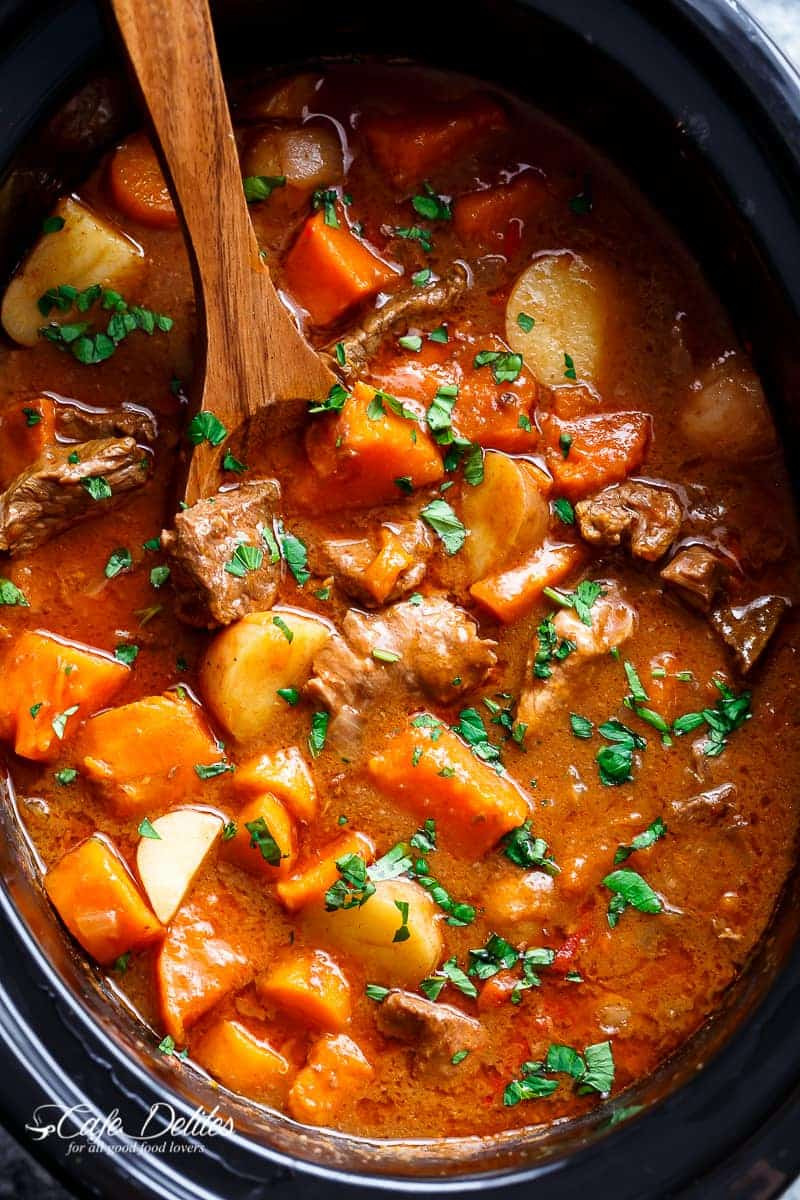 Beef And Sweet Potato Stew  Slow Cooker Beef & Sweet Potato Stew Cafe Delites