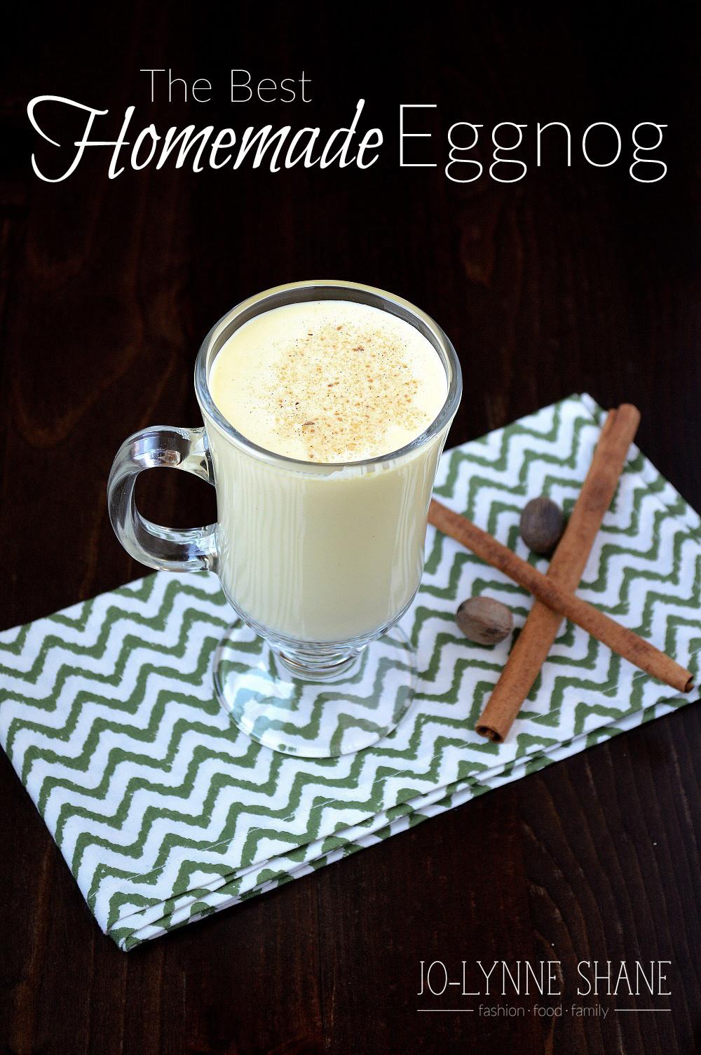 Best Homemade Eggnog  THE BEST Homemade Eggnog Recipe