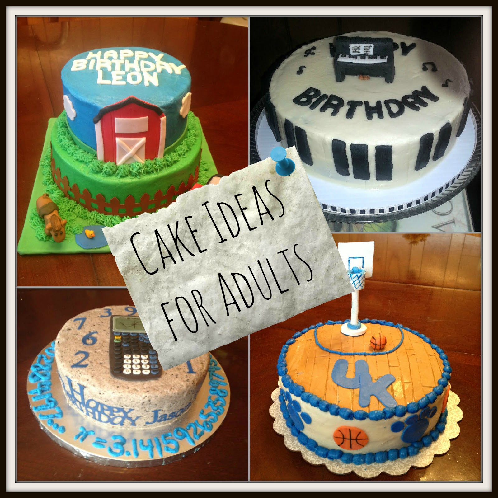 Birthday Cake Designs Adults  Birthday Cake Ideas for Adults