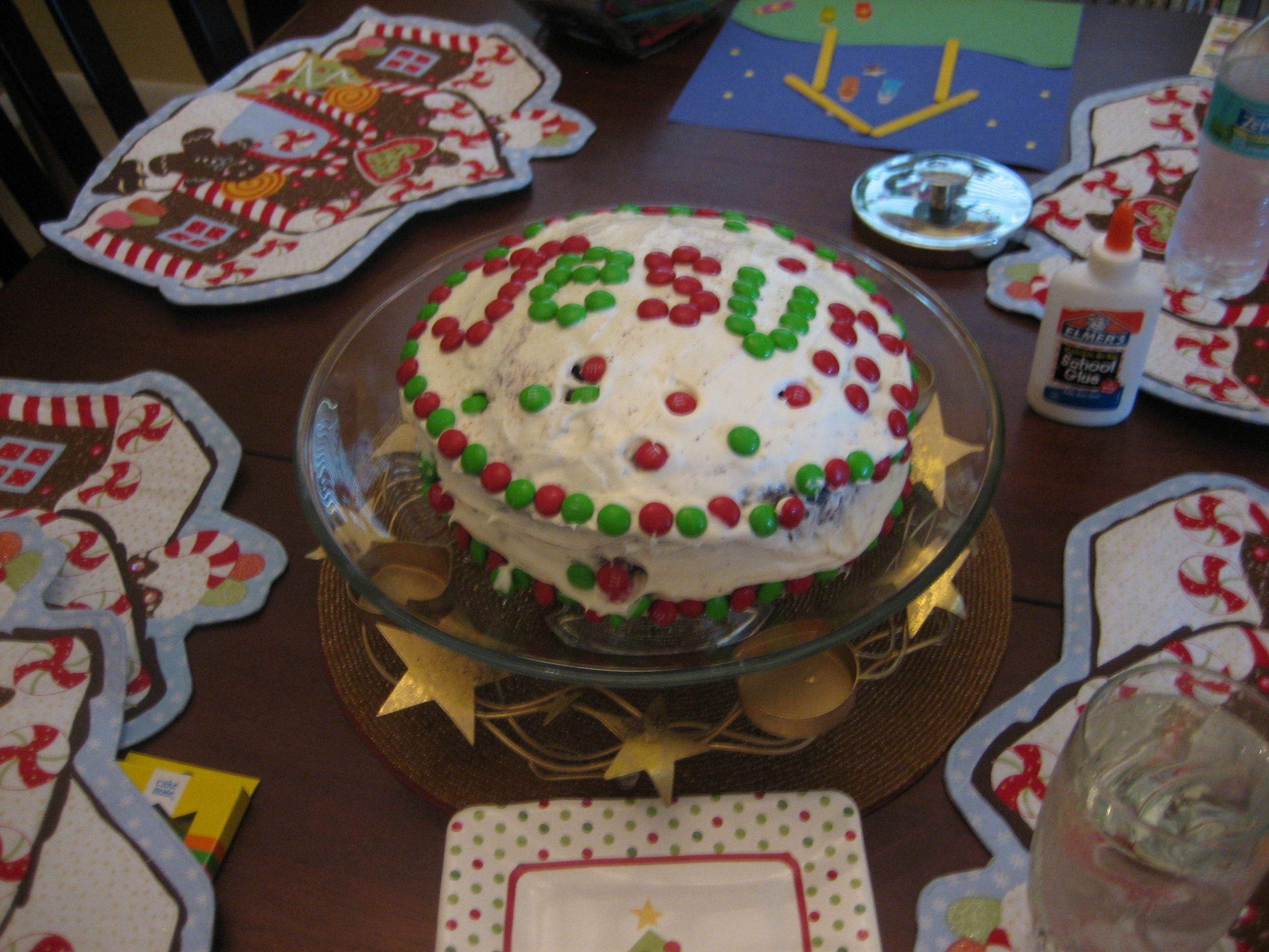 Birthday Cake For Jesus  Happy Birthday Jesus Party Happy Home Fairy
