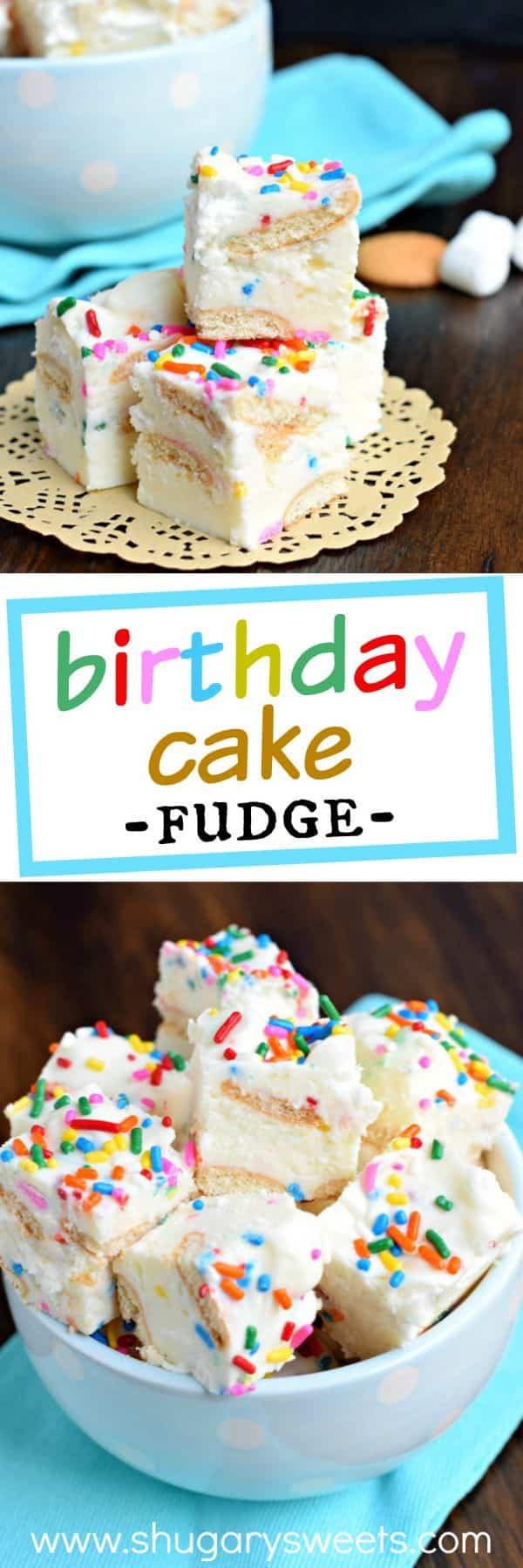 Birthday Cake Fudge  Birthday Cake Fudge Shugary Sweets