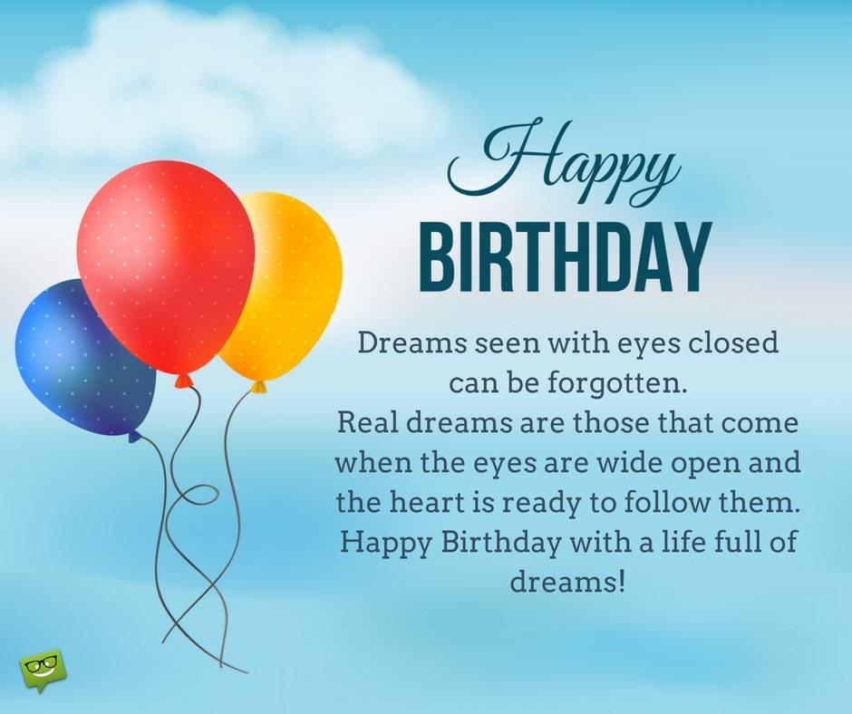 Birthday Wish Quotes  Inspirational Birthday Wishes
