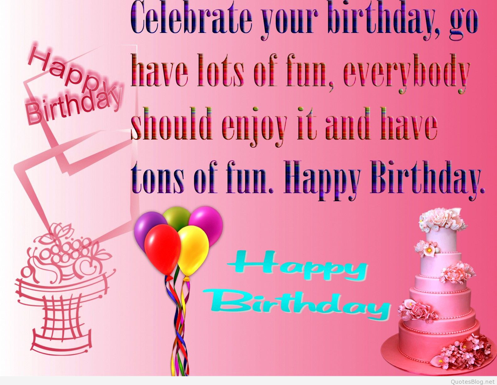Birthday Wish Quotes  Happy birthday quotes and wishes cards pictures