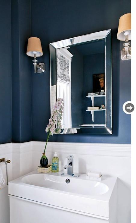 Blue Bathroom Walls  Navy Blue Bathroom Contemporary bathroom Style at Home