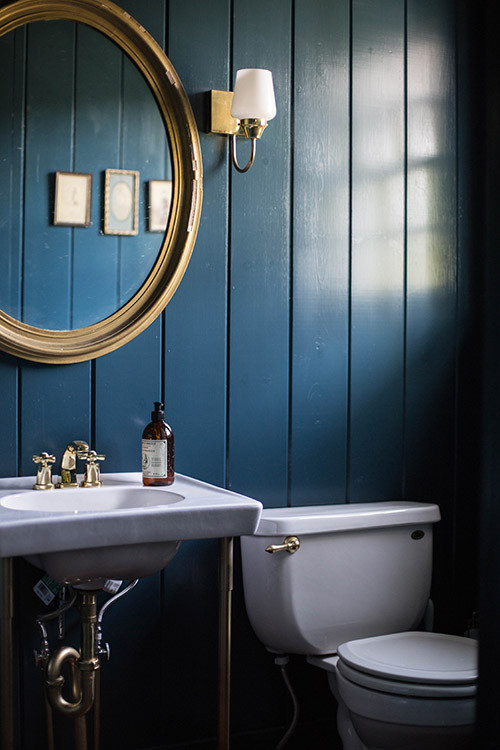 Blue Bathroom Walls  Why Dark Walls Work in Small Spaces – Design Sponge