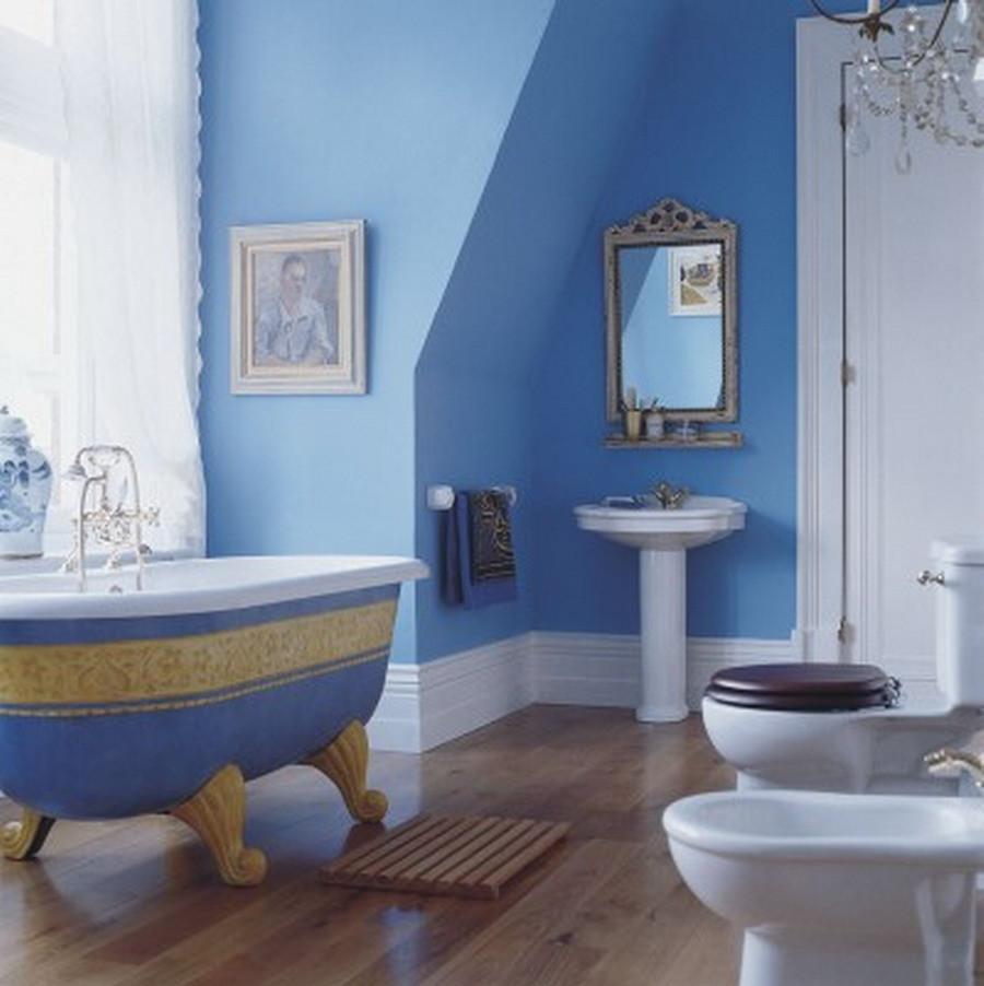 Blue Bathroom Walls  Blue Bathroom Ideas Gratifying You Who Love Blue Color