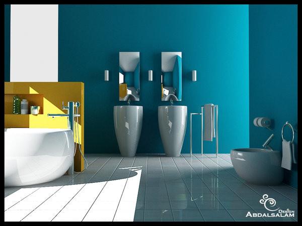 Blue Bathroom Walls  Inspiring Bathroom Designs for the Soul