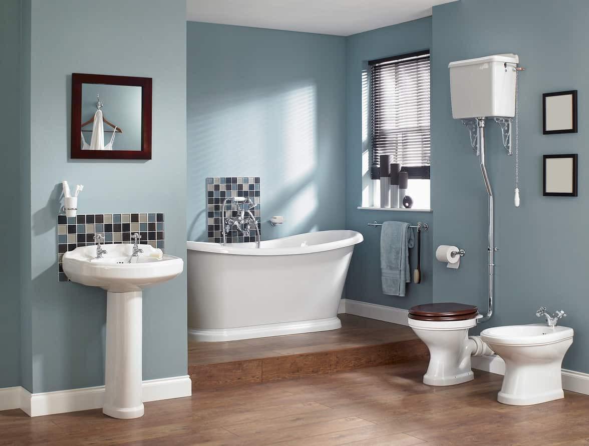Blue Bathroom Walls  35 Beautiful Blue Primary Bathroom Ideas s