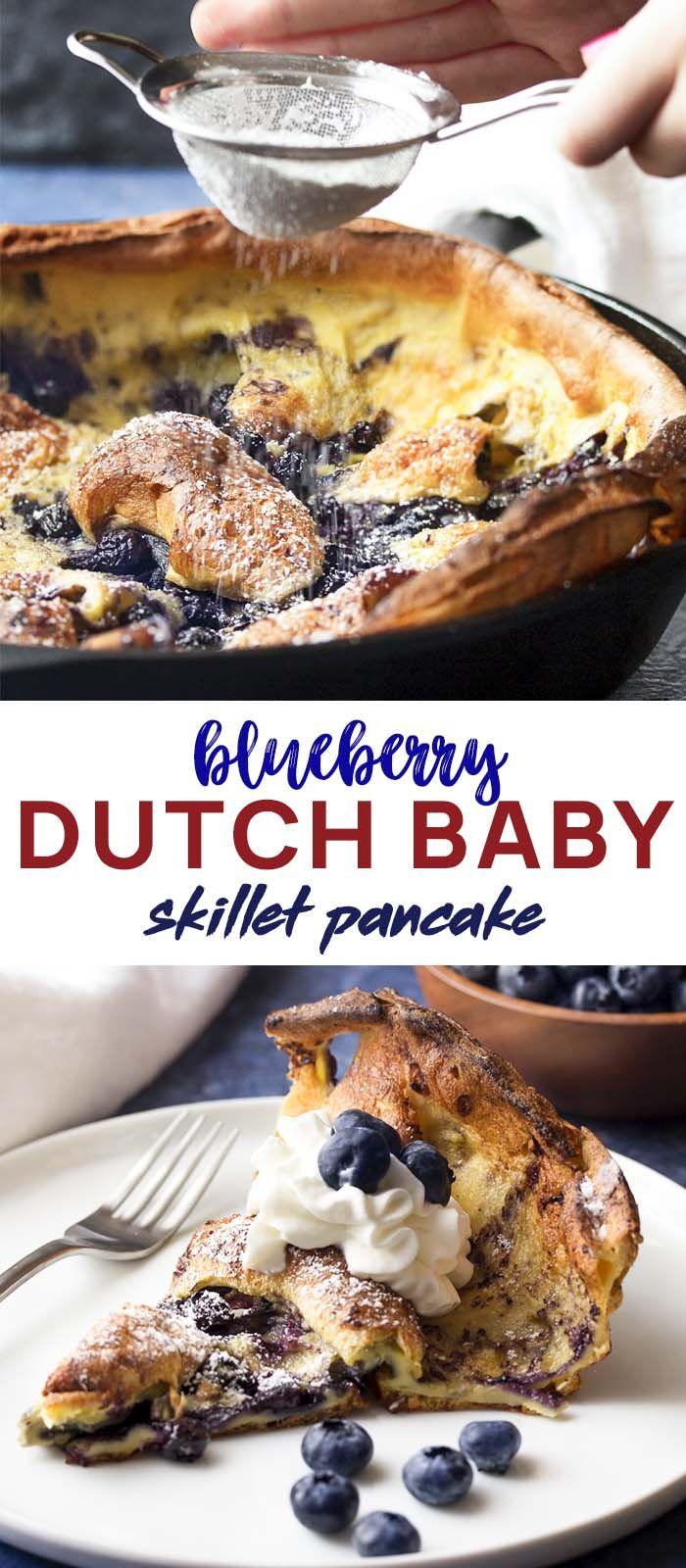 Blueberry Baby Food Recipe  Blueberry Dutch Baby Pancake Recipe