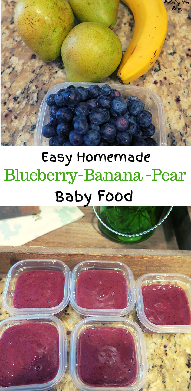 Blueberry Baby Food Recipe  5 minute Blueberry Banana Pear Baby Food Puree
