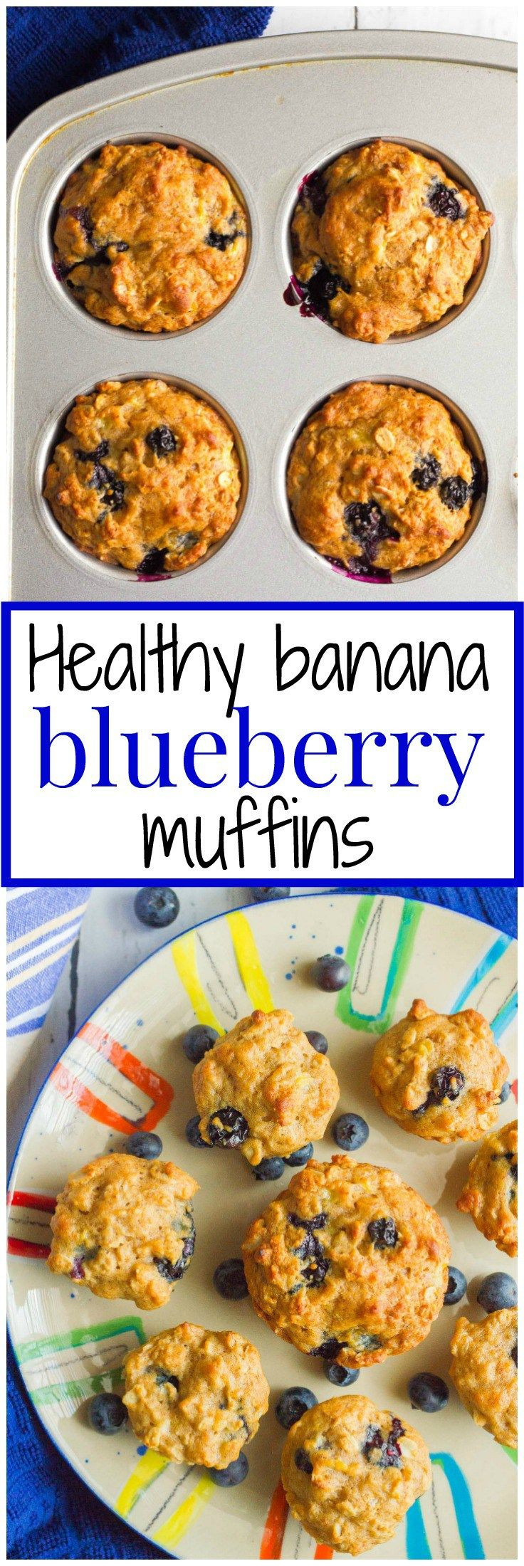 Blueberry Baby Food Recipe  Whole grain naturally sweetened banana blueberry muffins