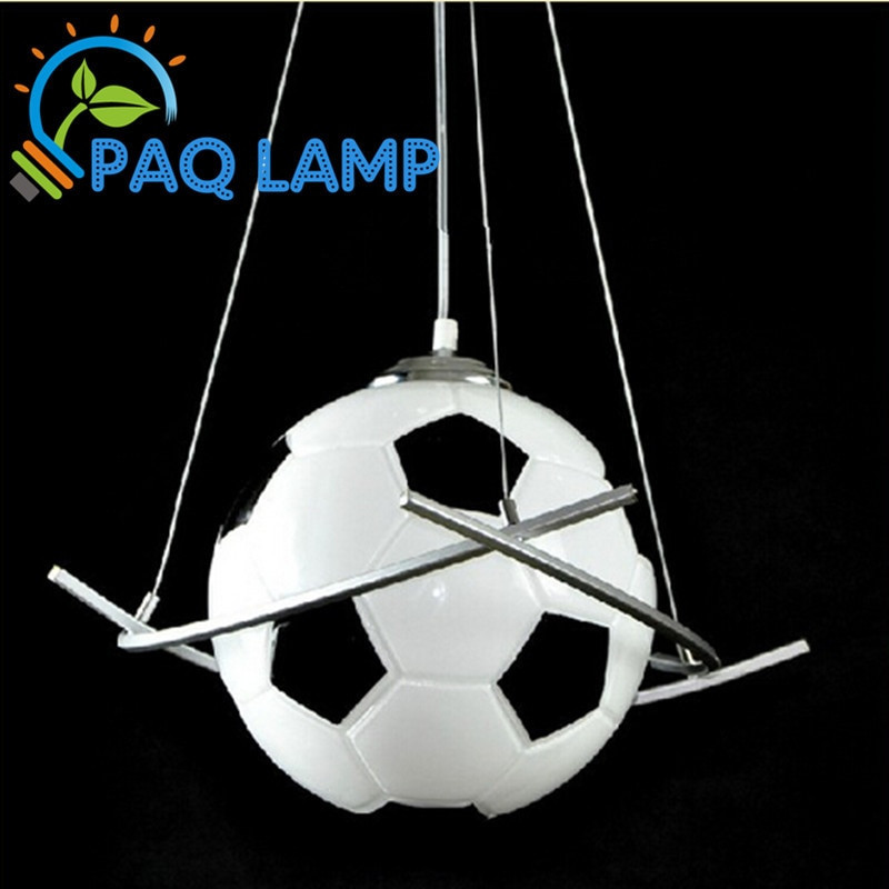 Boys Bedroom Lights  Football lamp chandelier light modern kids room lighting