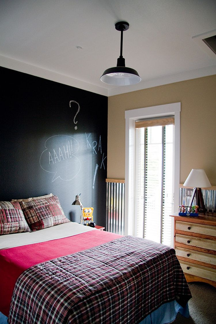 Boys Bedroom Lights  35 Bedrooms That Revel in the Beauty of Chalkboard Paint