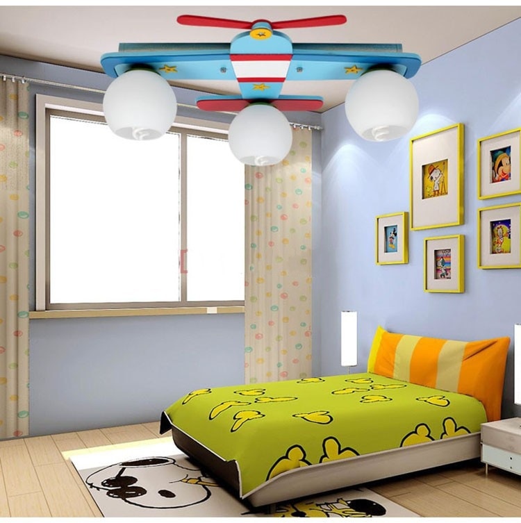 Boys Bedroom Lights  Aliexpress Buy Plane model children s bedroom