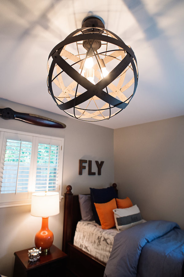 Boys Bedroom Lights  NAVY AND ORANGE AIRPLANE BEDROOM HOUSE of HARPER