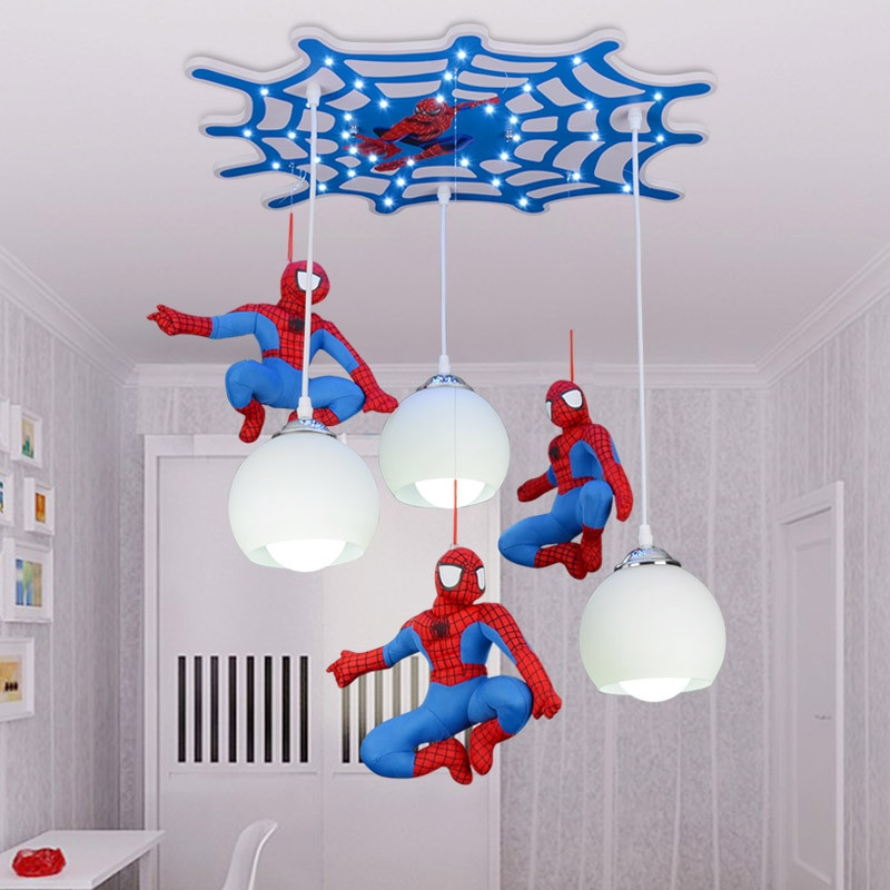 Boys Bedroom Lights  Aliexpress Buy Cool cartoon character Spiderman