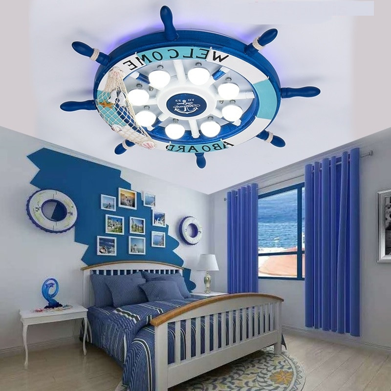 Boys Bedroom Lights  LED Ceiling Lights Mediterranean Creative Kids Room