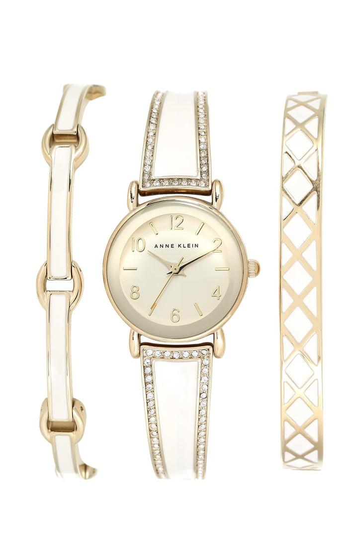 Bracelet And Watch Set  Anne Klein Boxed Bracelet & Bangle Watch Set 24mm