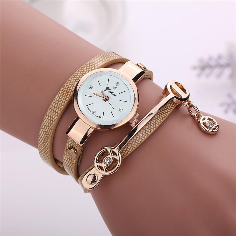 Bracelet And Watch Set  Irisshine Woman Watches Fashion Retro Leather Set Auger