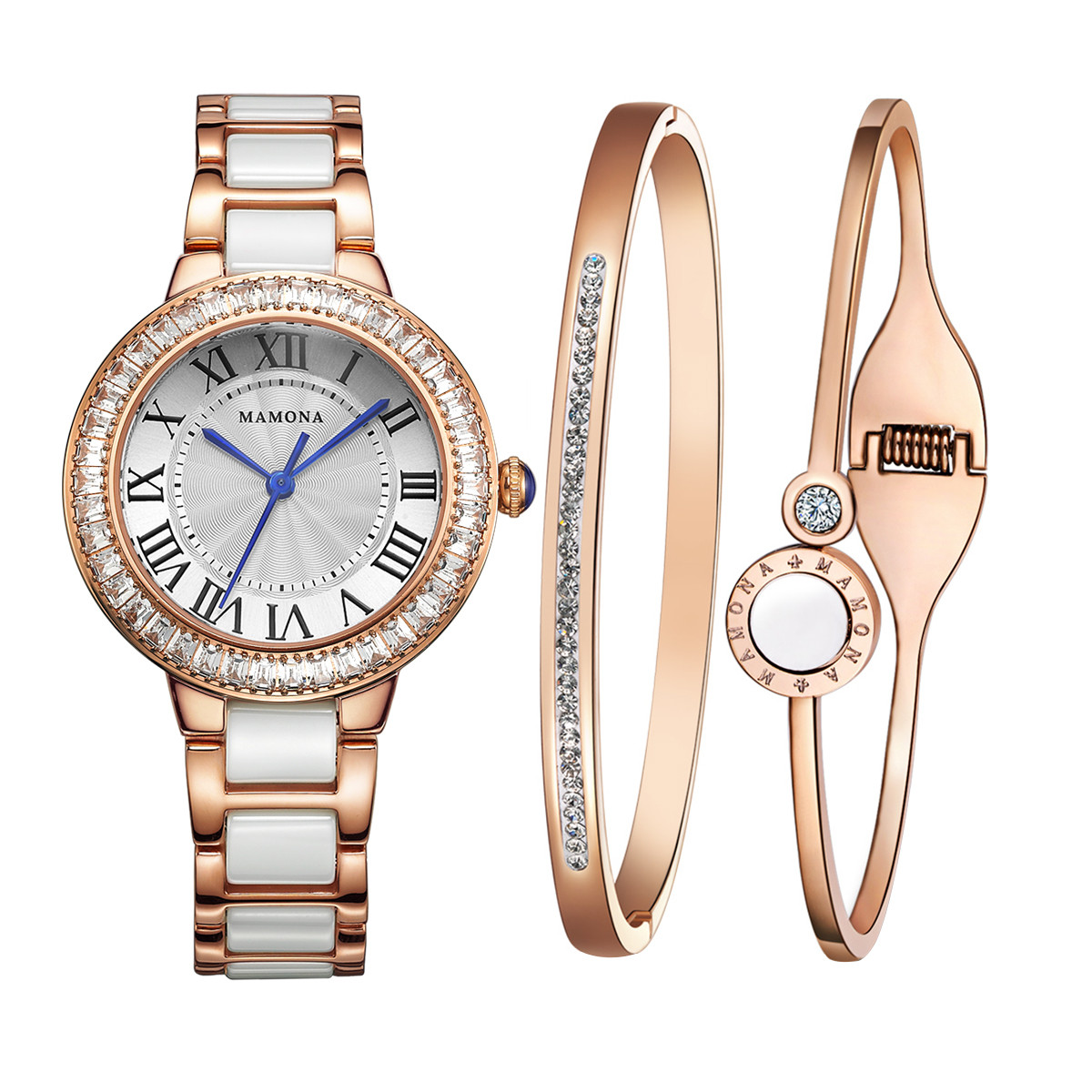 Bracelet And Watch Set  MAMONA Women s Watch Bracelet Gift Set L RGGT MAMONA