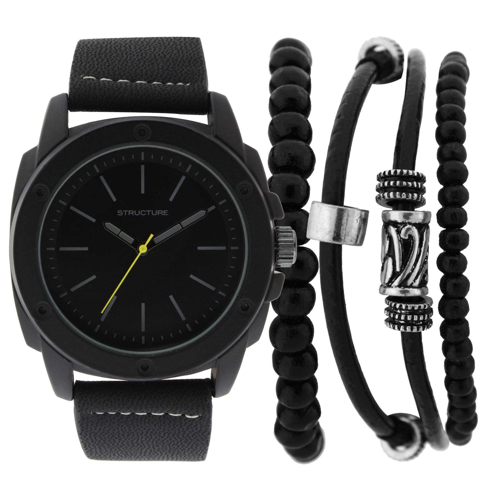 Bracelet And Watch Set  Structure Men s Watch & Bracelet Set