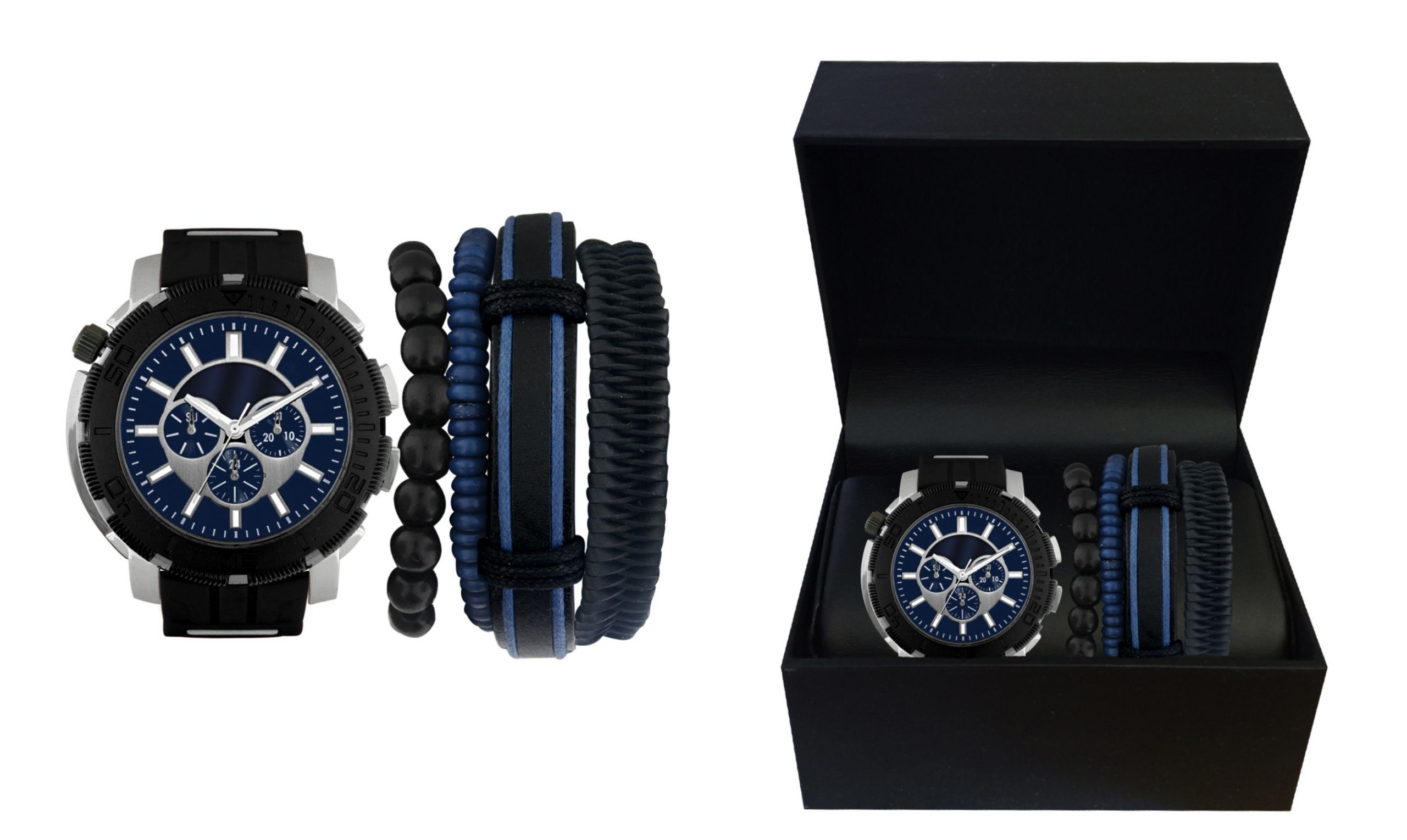 Bracelet And Watch Set  American Exchange Men s Watch and Bracelet Set Jewelry