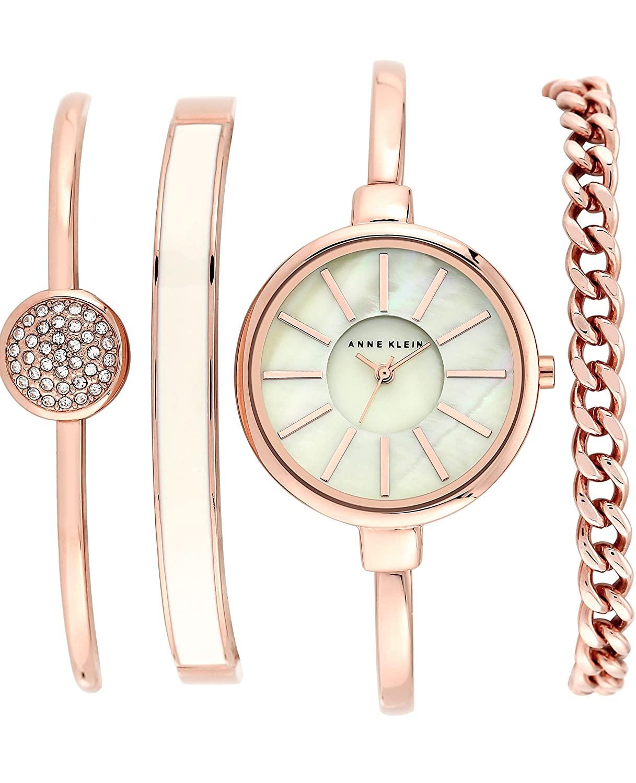 Bracelet And Watch Set  Anne Klein Women s AK 1470 Bangle Watch and Bracelet Set
