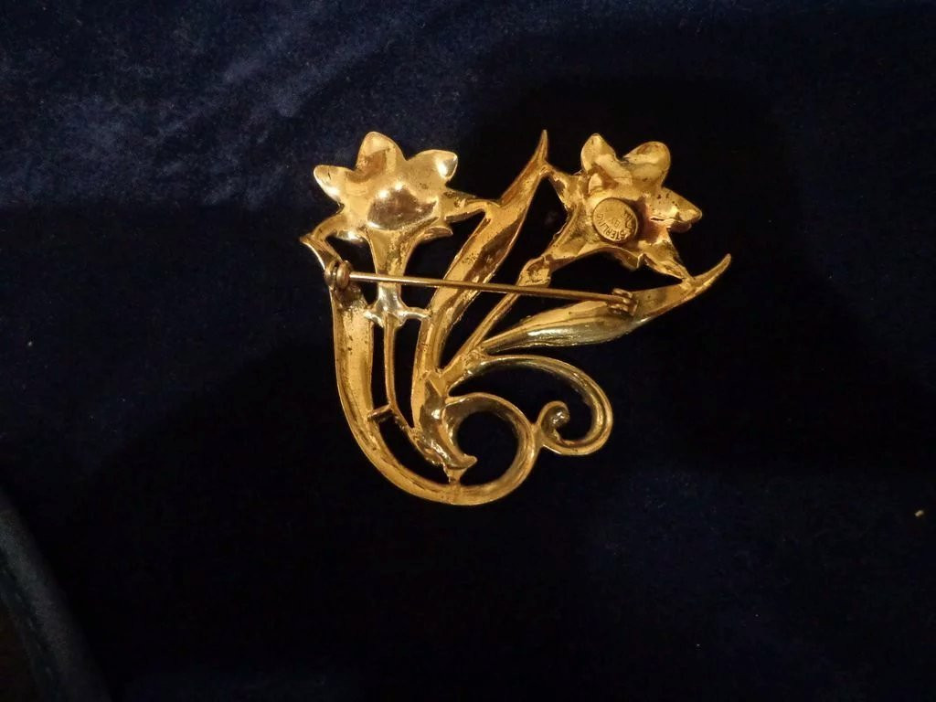 Brooches Aesthetic  Beautiful Jewelart Sterling Brooch Pin Aesthetic Mid