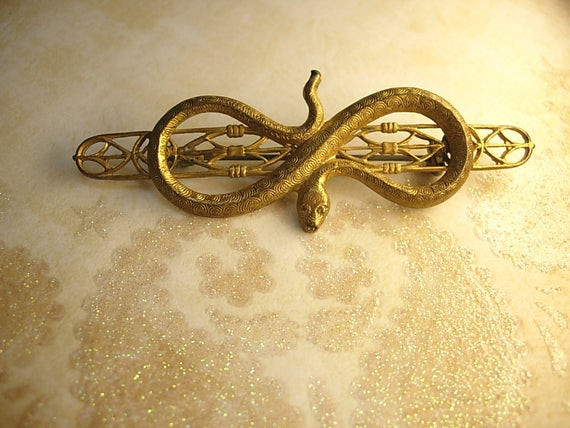 Brooches Aesthetic  Antique snake brooch Victorian serpent aesthetic movement