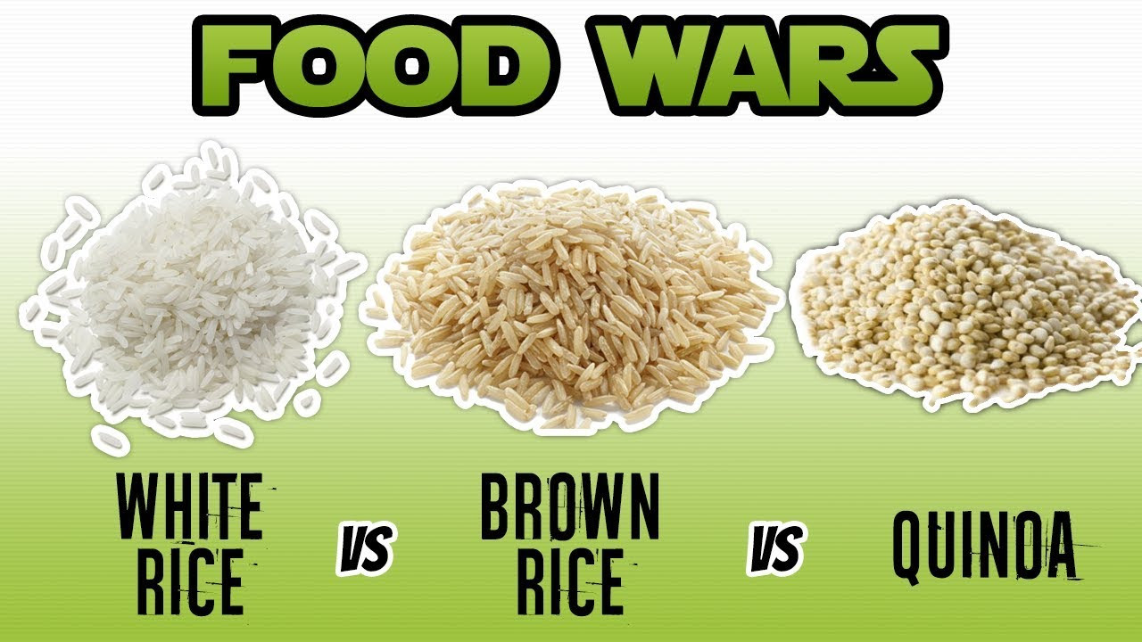 Brown Vs White Rice  White Rice vs Brown Rice vs Quinoa Nutrition Facts WHAT