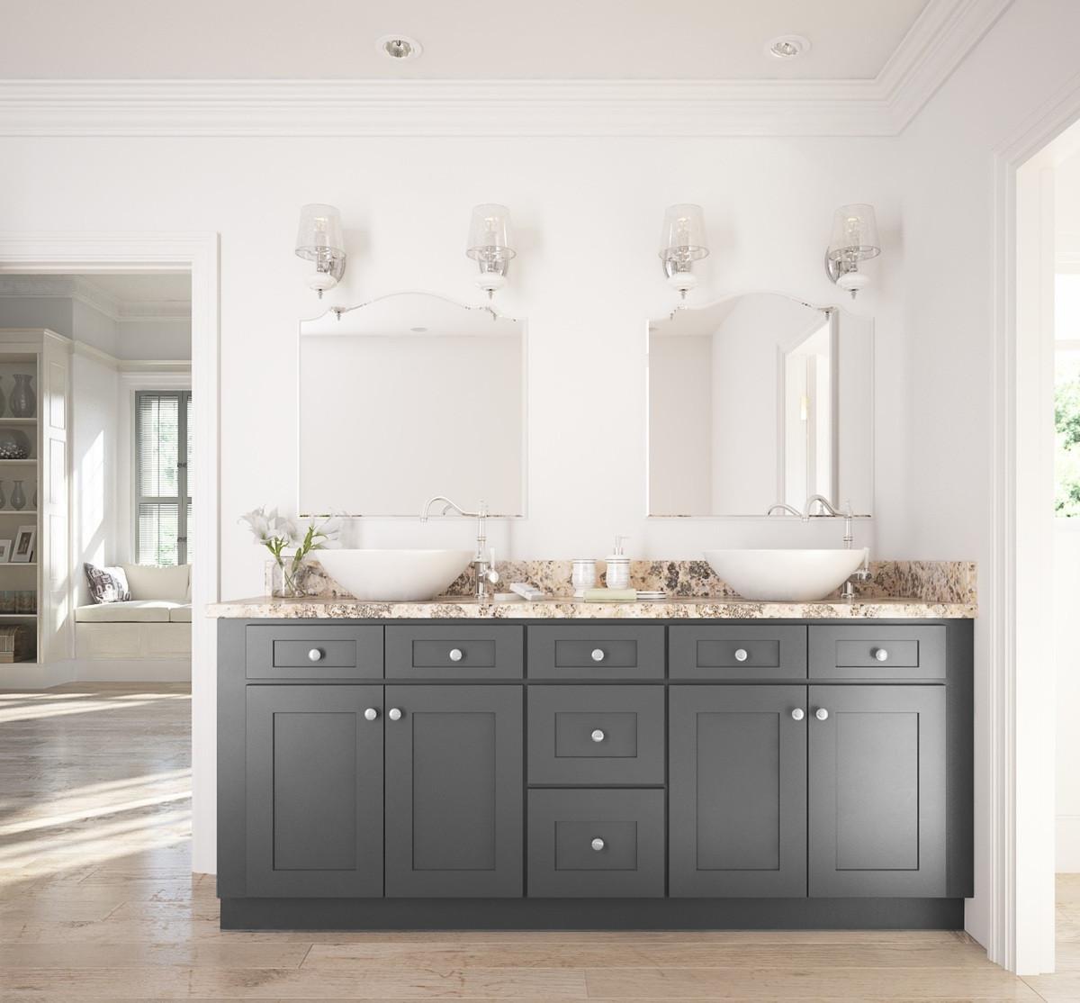 Cabinets To Go Bathroom Vanity  Graphite Grey Shaker Ready to Assemble Bathroom Vanities