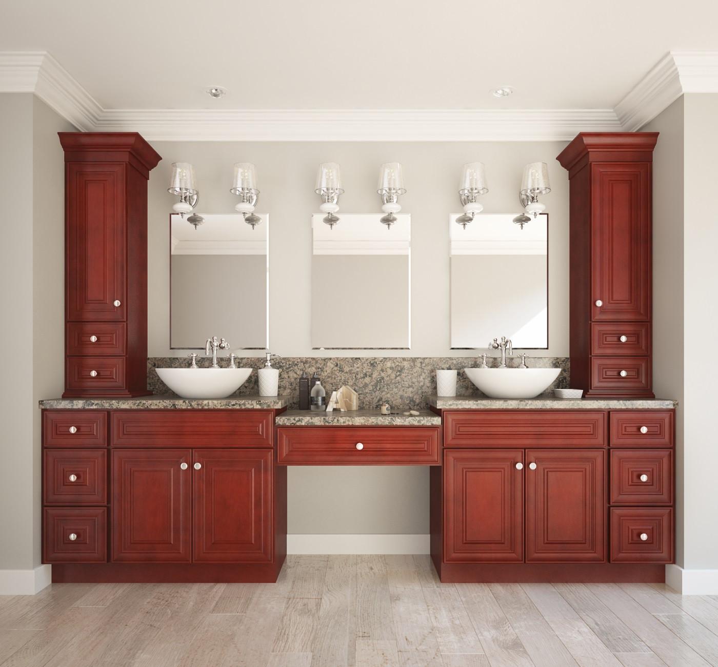 Cabinets To Go Bathroom Vanity  Cayenne Cognac Ready to Assemble Bathroom Vanities