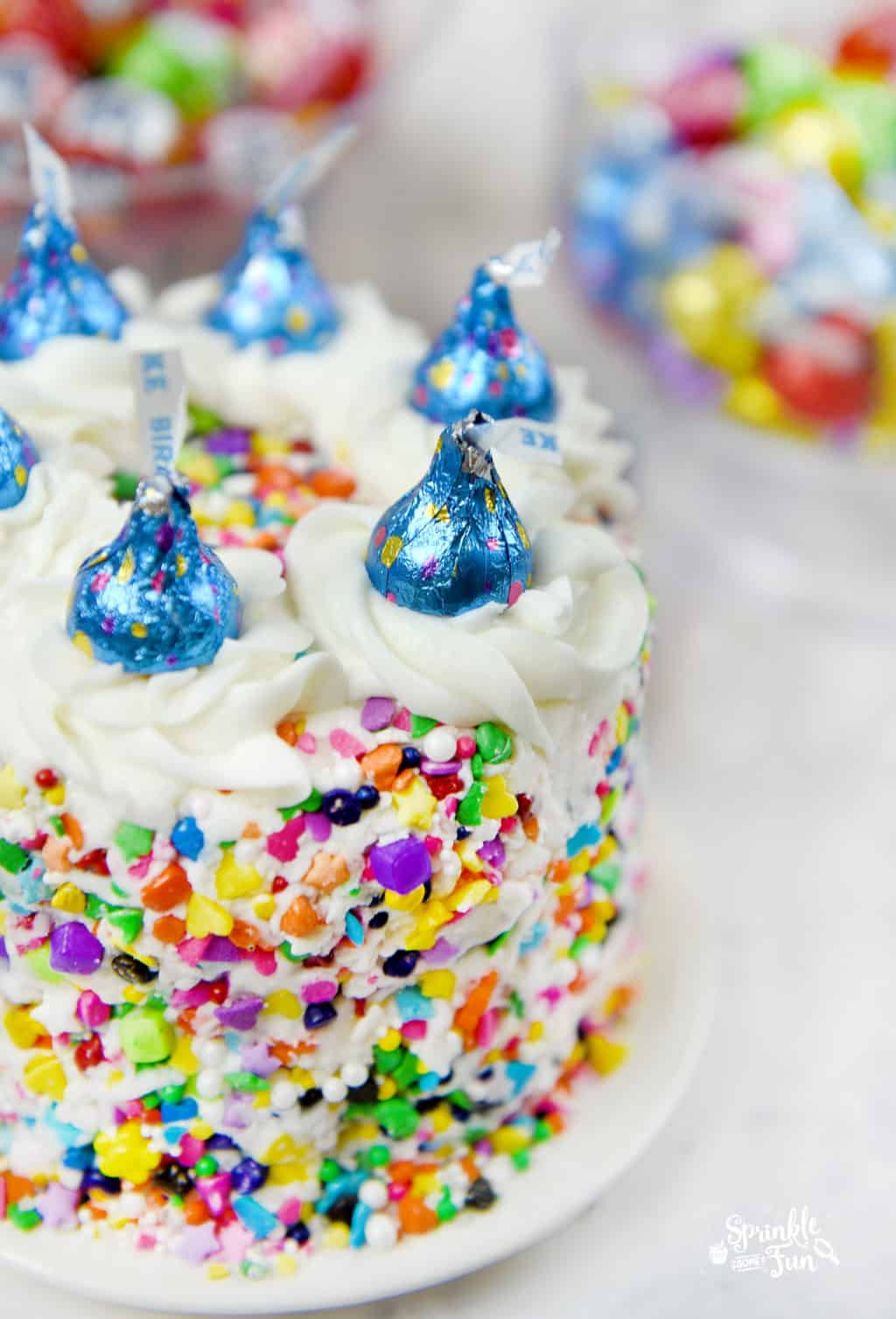 Cake Birthday Images  Sprinkle Cake with HERSHEY'S KISSES Birthday Cake Can s