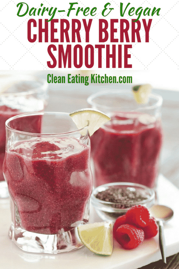 Cancer Fighting Smoothies  Vegan Cherry Berry Healing Smoothie for Cancer Prevention