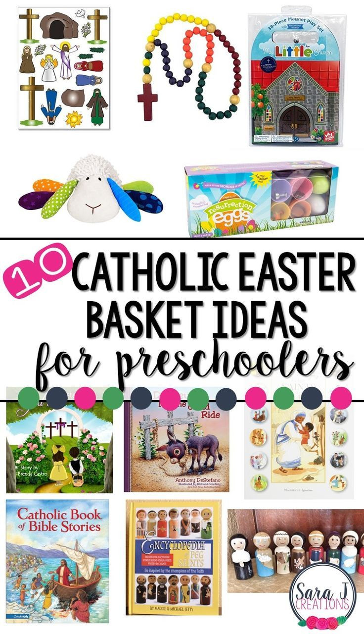 Catholic Children Gifts  Catholic Easter Basket Ideas for Preschoolers