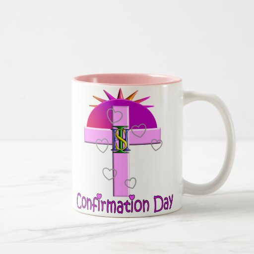 Catholic Children Gifts  Catholic Confirmation Day Gifts for Kids Two Tone Coffee