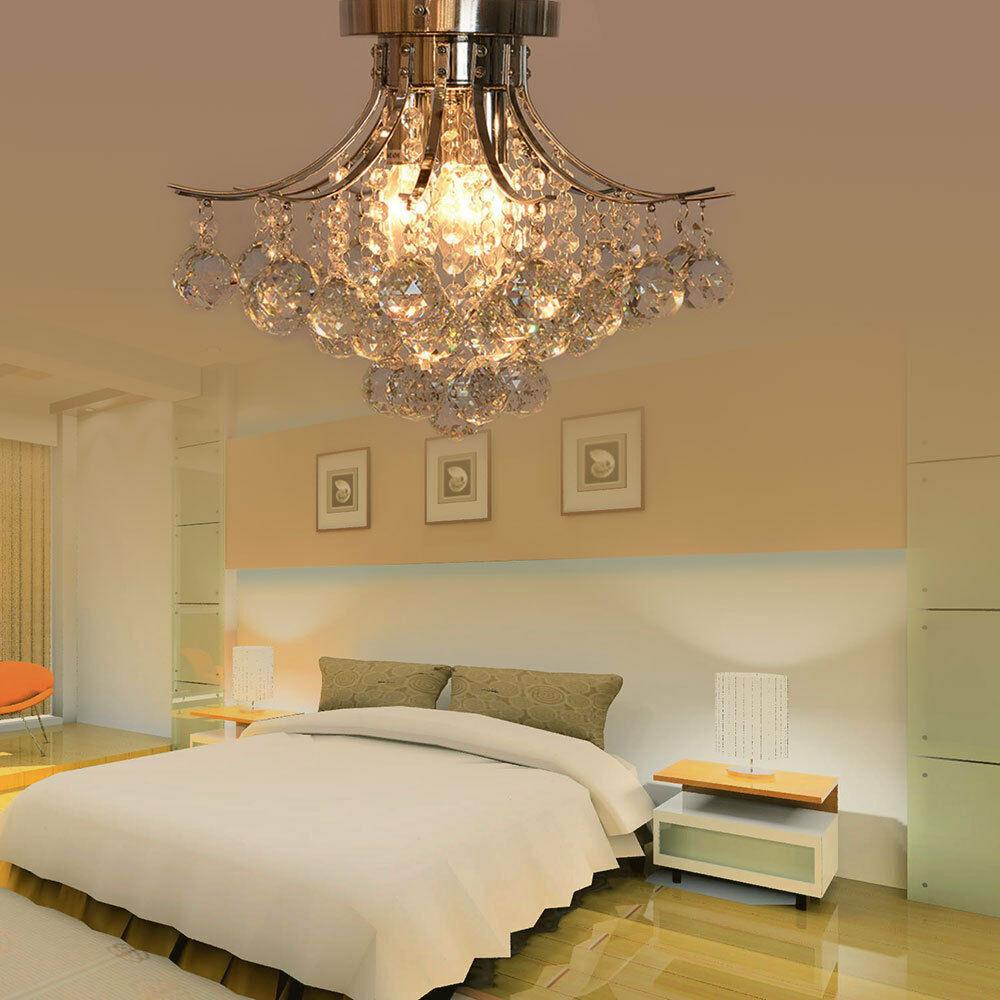 Ceiling Lights Bedroom  Crystal Chandelier Ceiling Light Pendant Lamp Lighting