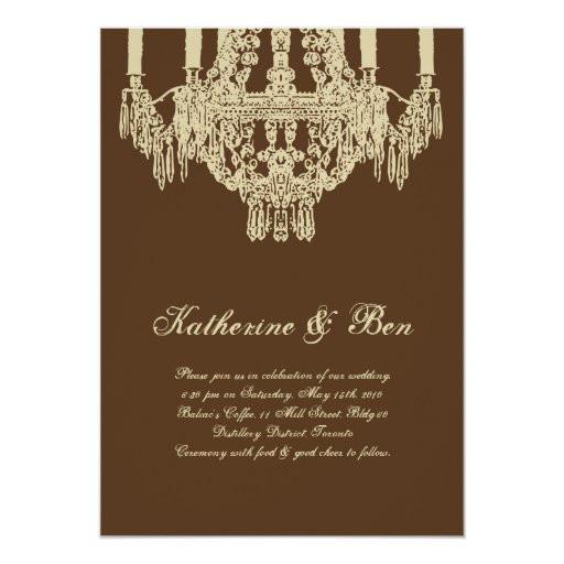 Chandelier Wedding Invitations  Custom Chandelier Wedding Invitations